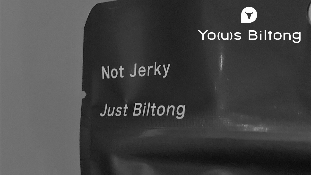 Not Jerky, Just Biltong / ヨウズビルトンのキャッチコピーについて