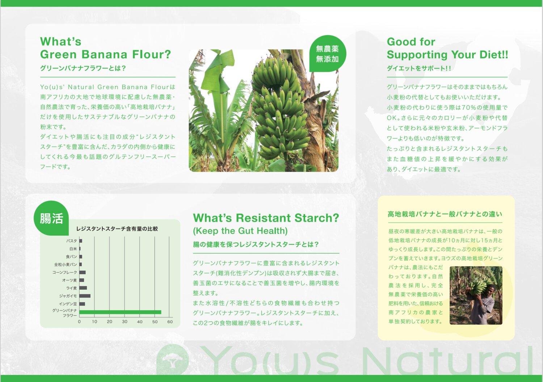 Yo(u)s' Natural Yo(u)'s Natural Green Banana Flour(グリーンバナナフラワー) 5